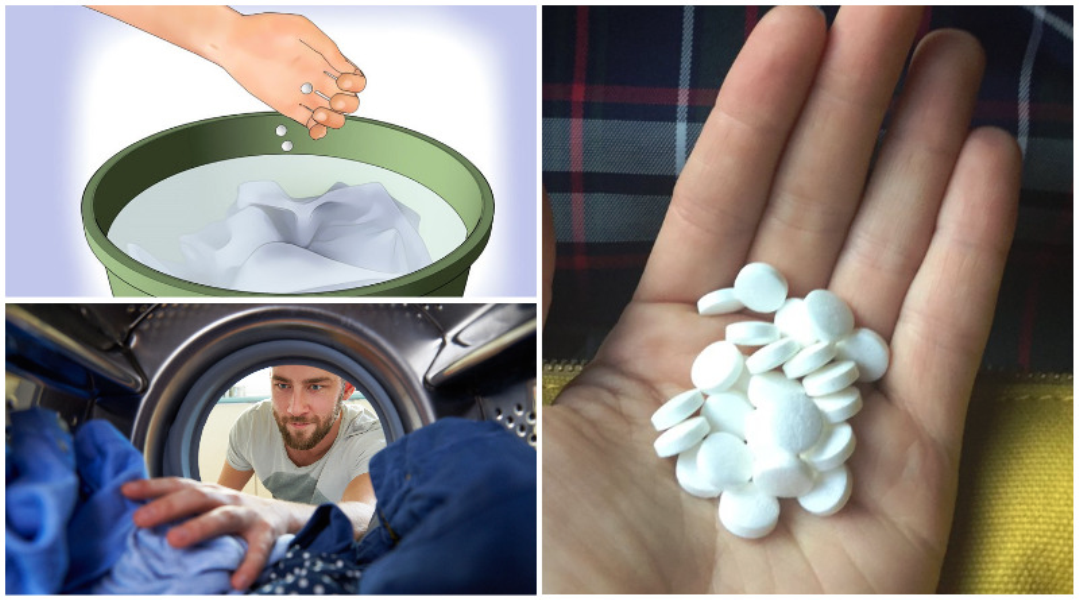 Throw a Bunch of Aspirins in the Washing Machine. The Result is Awesome!